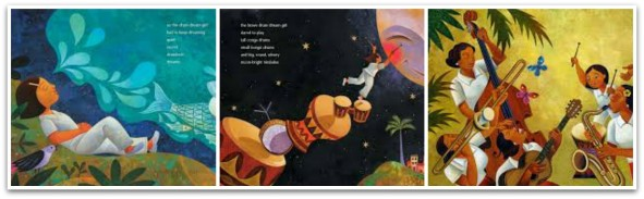 Multicultural Children's Book: Drum Dream Girl pages
