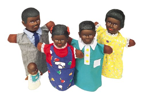 Multicultural Dolls & Puppets: PUPPETS BLACK FAMILY