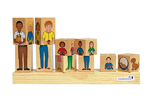 Multicultural Games & Puzzles: Wooden Stack-a-Family