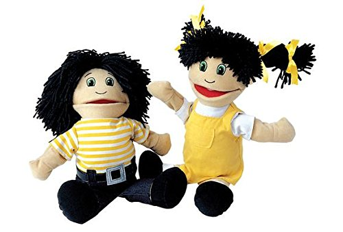 Multicultural Dolls & Puppets: Hispanic Girl & Boy Puppet Pair