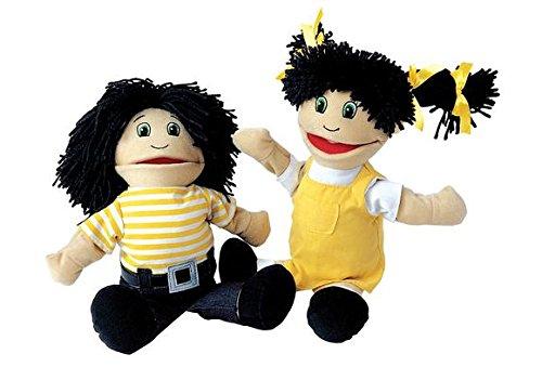 Multicultural Dolls & Puppets: Hispanic Girl & Boy Puppet Pair