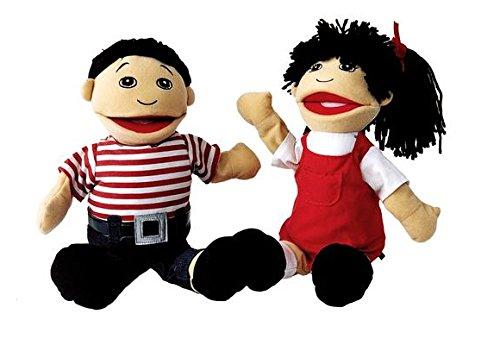 Multicultural Dolls & Puppets: Asian Girl & Boy Puppet Pair