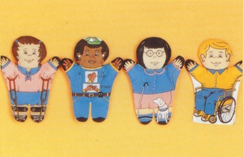 Multicultural Dolls & Puppets: Special Needs 4 Piece Puppet Set