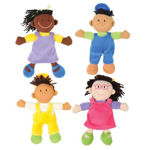 Multicultural Dolls & Puppets: Ethnic Soft Dolls (Set of 4)