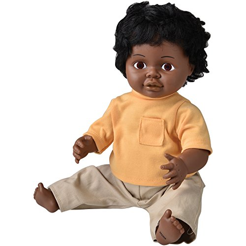 "Multicultural Dolls & Puppets: 16"" Multi-Ethnic Doll- Black Boy"