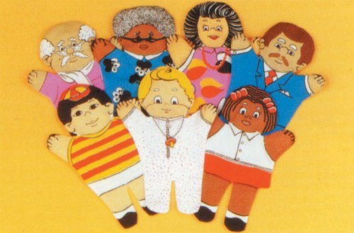 Multicultural Dolls & Puppets: Family Cloth Hand Puppets