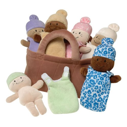Multicultural Dolls & Puppets: Plush Basket of Babies