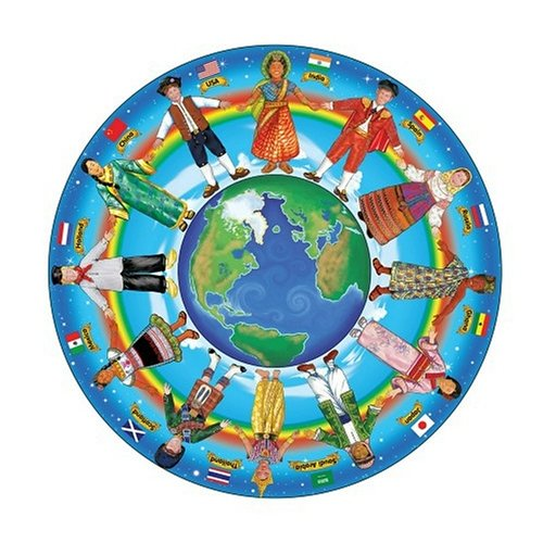 Multicultural Games & Puzzles: Children of the World Floor Puzzle