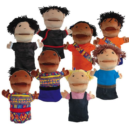 Multicultural Dolls & Puppets: Multicultural Puppet Set