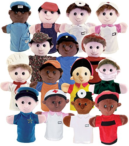Multicultural Dolls & Puppets: Community Helper Career Puppet Set