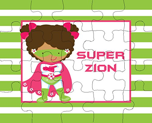 Multicultural Games & Puzzles: Multicultural Supergirl Personalized Puzzle