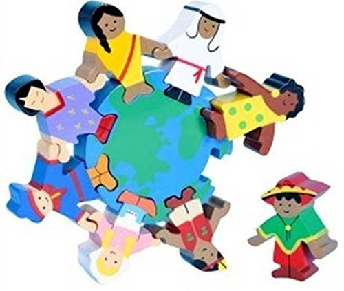 Multicultural Games & Puzzles: Wooden Children of the World Puzzle