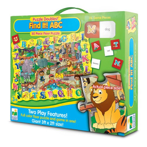 Multicultural Games & Puzzles: Find It! ABC Floor Puzzle