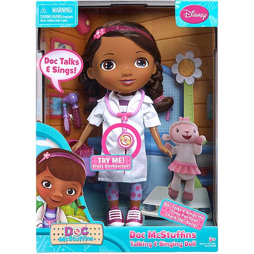 Multicultural Dolls & Puppets: Disney Doc McStuffins Talking & Singing Doll & Accessories