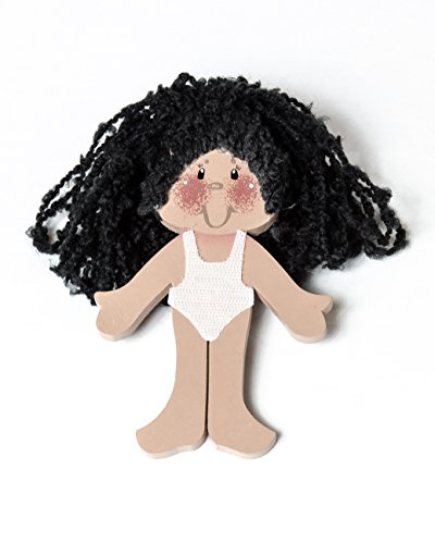 Multicultural Dolls & Puppets: Handmade Wooden Dress Up Doll