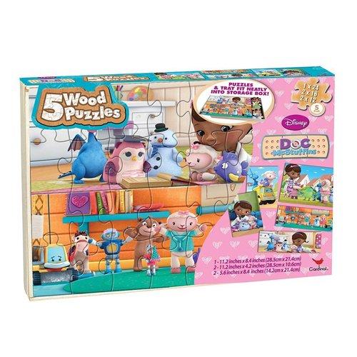 Multicultural Games & Puzzles: Doc McStuffins 5 Wooden Puzzles