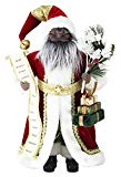 African American Santa Claus Christmas Figurine