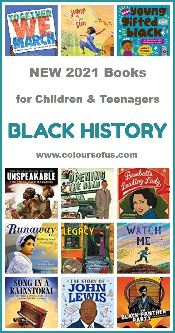 New 2021 Black History Books For Children & Teenagers