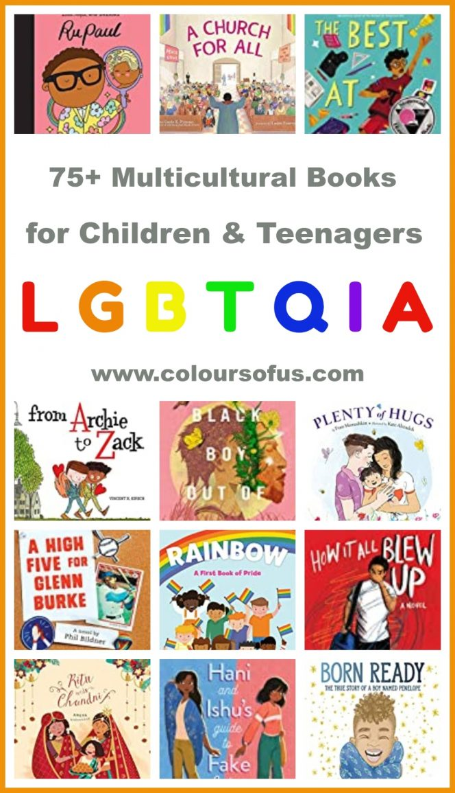 multicultural LGBTQIA books for children and teenagers