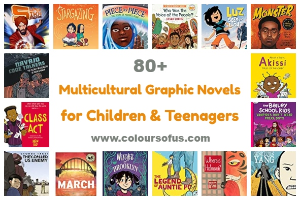 80+ Multicultural Graphic Novels for Children & Teenagers